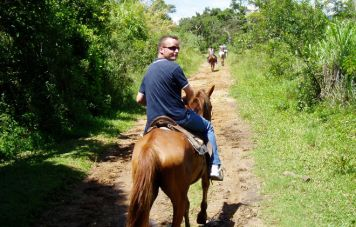 Riding at the fazenda's properties