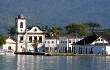 The colonial harbor of Paraty