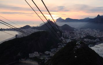 View from the Sugar Loaf down to Copacabana and Botafogo