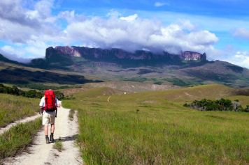 On our way over the foothills of Mount Roraima