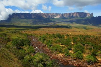 Rio Kukenan and the Mount Roraima