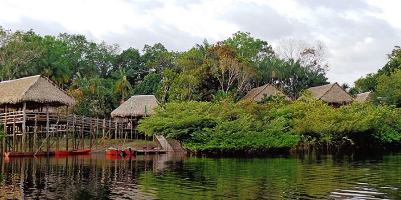 Our jungle lodge in the Amazon