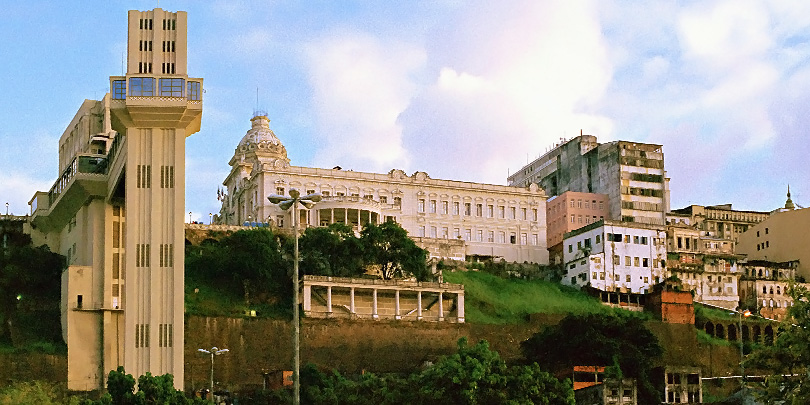 The Lacerda Elevator up to Salvador's upper town and the Rio Branco Palace