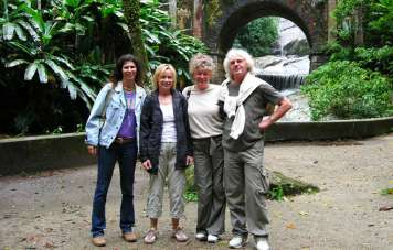 Grafs and Gepperts with guide Annette at Sítio Burle Marx