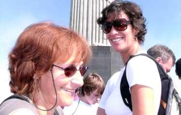 Mylène and Dédé on the Corcovado