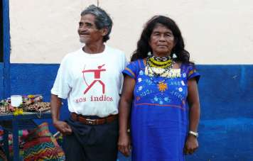 The cacique (chieftain) with his wife
