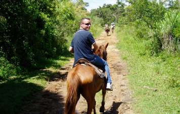 Riding at the fazenda's properties