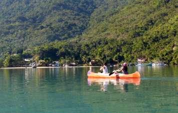Kayaking in the bay of Mamanguá