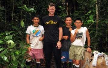 Traveler with Yanomami guides