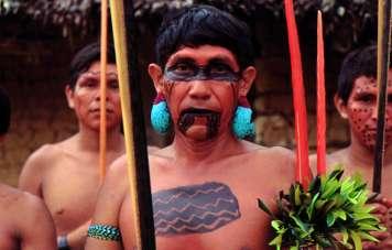 Yanomami with war paint