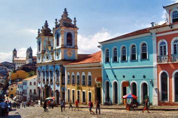 The Largo do Pelourinho square in Salvador's old town