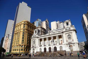At Cinelândia square downtown Rio de Janeiro